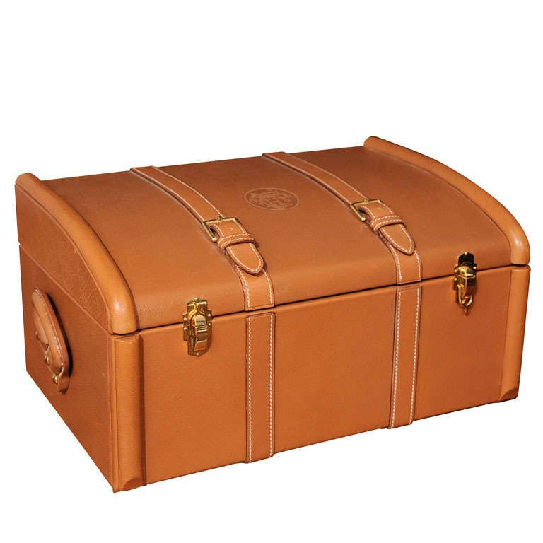 Rare Hermes Leather Trunk  732ef7c01a046
