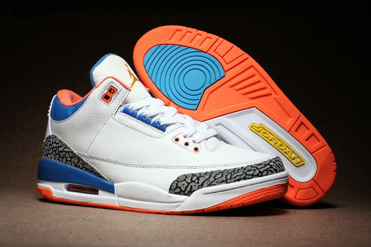 "750497f9df65b9 Cheap Russell Westbrook Air Jordan 3 ""OKC"" White Cement Blue Orange ..."