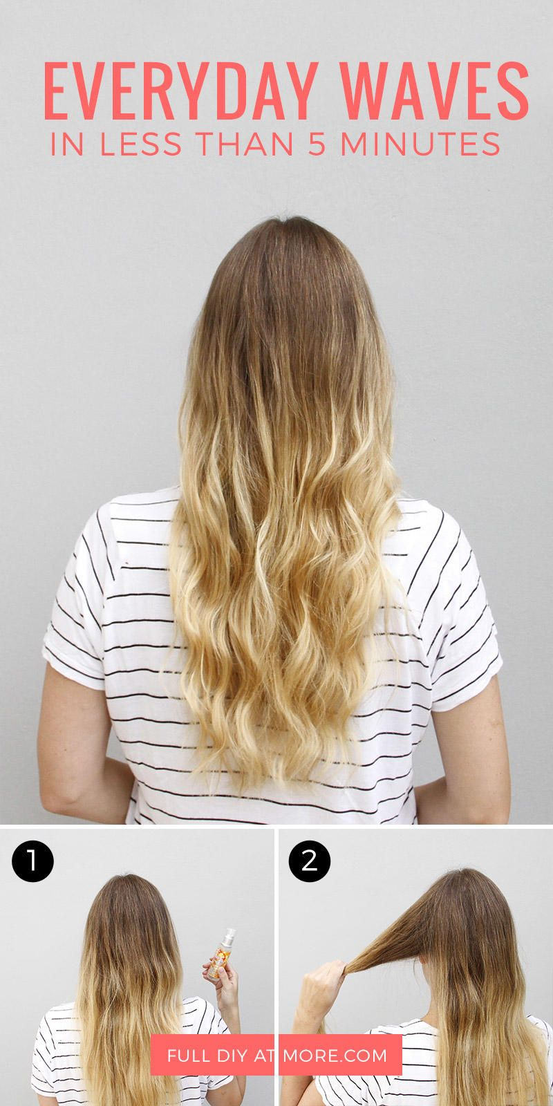 How To Get Wavy Hair In Less Than 5 Minutes Easy