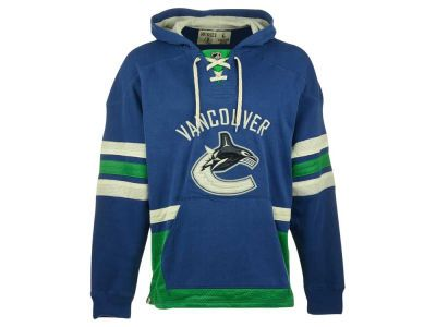 Vancouver Canucks Reebok NHL Men's Lace Up Pullover Hoodie