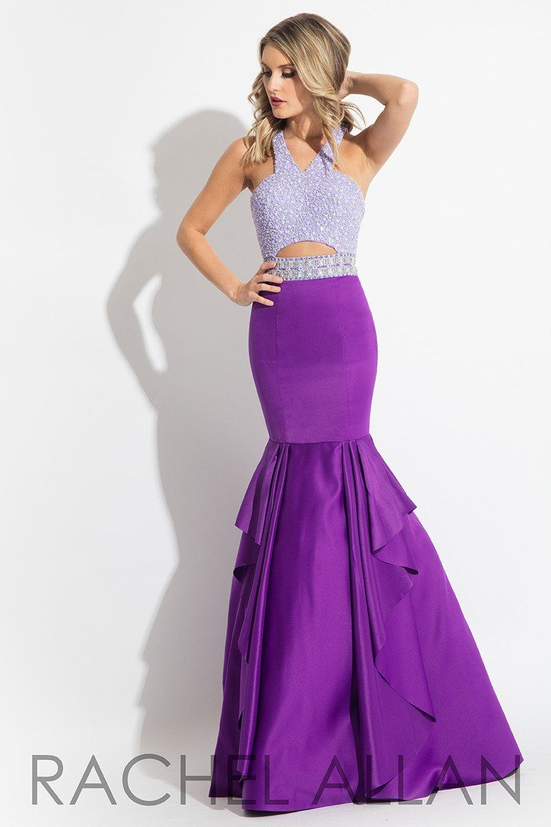 Rachel allan lilacpurple mermaid prom dress pinterest