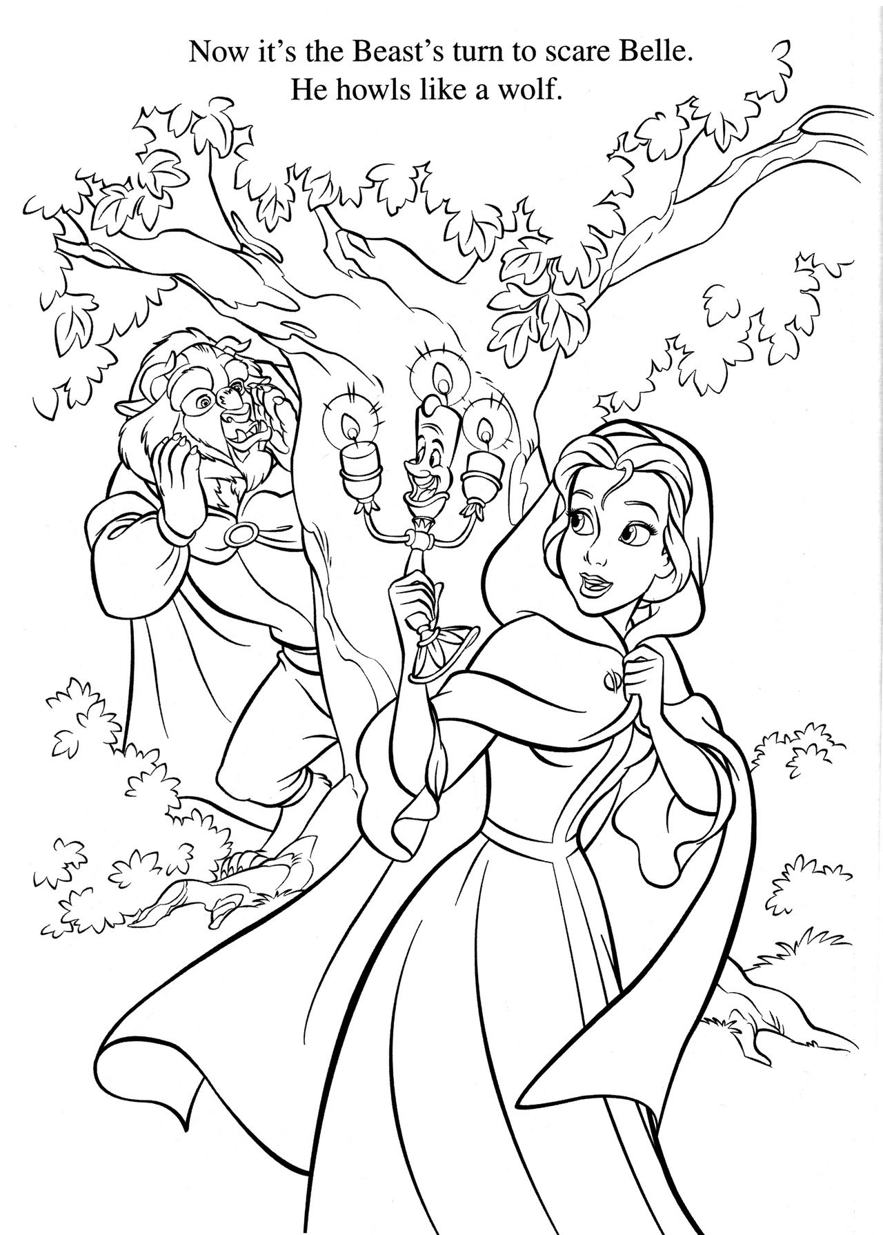 Disney coloring pages beauty and the beast - Disney Coloring Page Belle And The Beast
