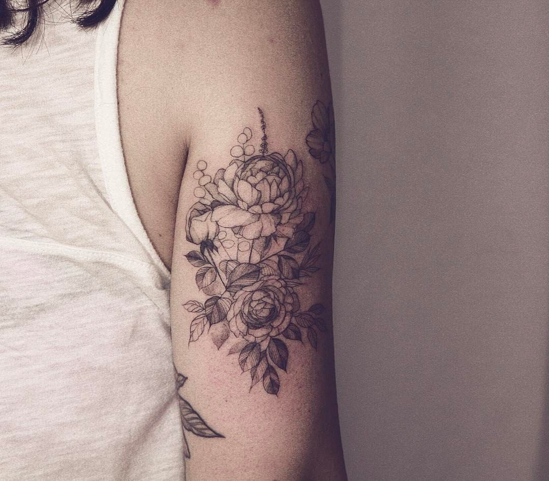 To See More Tattoos Like This Please Visit Https Www Chronicinktattoo Com Tattoos Blackwork Tattoo Floral Tattoo