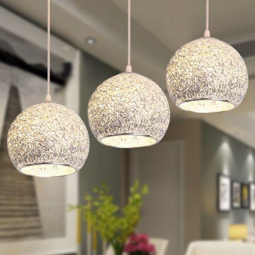 Modern Silver Ceiling Lights Bar Lamp Chandelier Lighting Kitchen