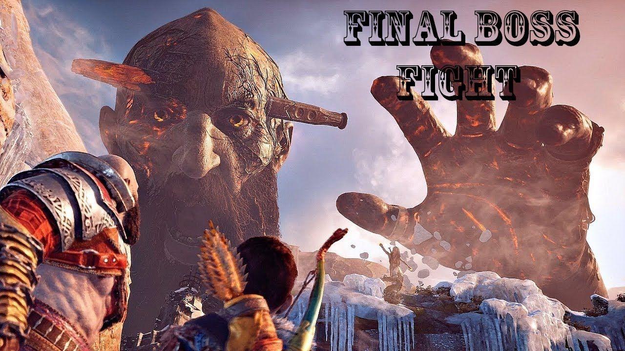 God of War 4 Final Boss Fight (God of War 2018) PS4 Pro