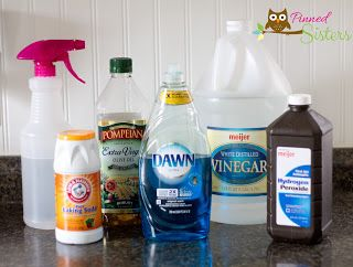 Cleaning Naturally Vinegar Dawn Hydrogen Peroxide