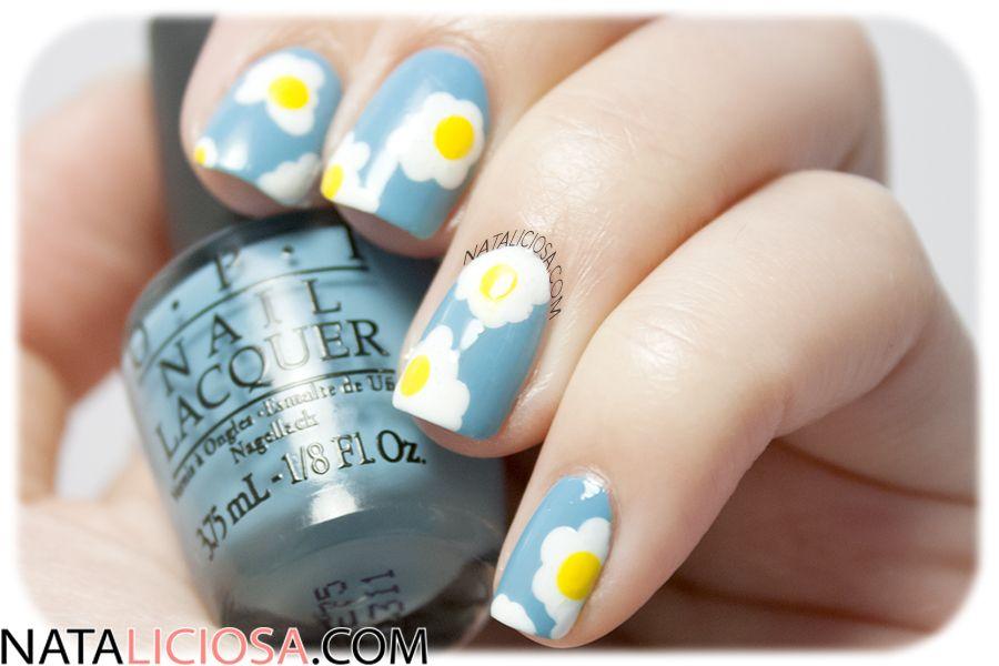 Tutorial de uñas: manicura de huevos fritos, muy fácil y divertida!