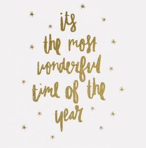 It S The Most Wonderful Time Of The Year Golden Glitter It S The Most Wonderful Time Of The Year Wallpaper Iphone Christmas Typography Quotes Wonderful Time