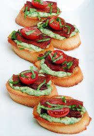 BLT Crostini with Basil Mayonnaise #SundaySupper | Bobbi's Kozy Kitchen