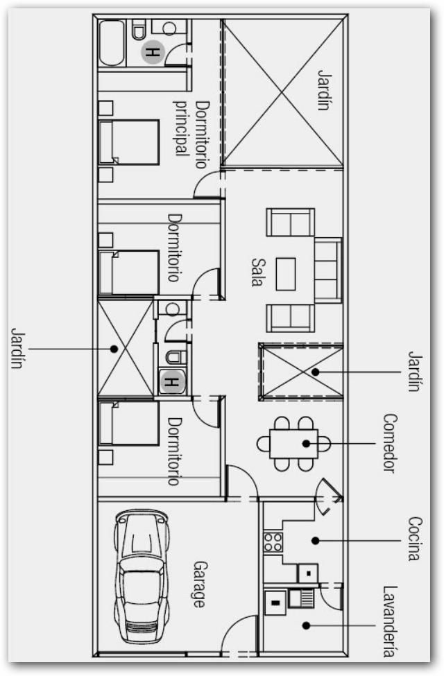 Plano de casa 200 metros cuadrados planos de casa for Diseno de casa de 120 metros cuadrados