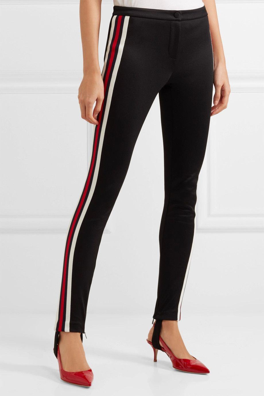 10a46ad49b6 Gucci - Striped tech-jersey stirrup leggings