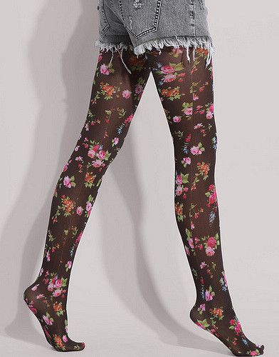 1fe1408ae7246 ASOS Flower Print Tight3 in 2019   Footwear, Stockings and Shoes ...