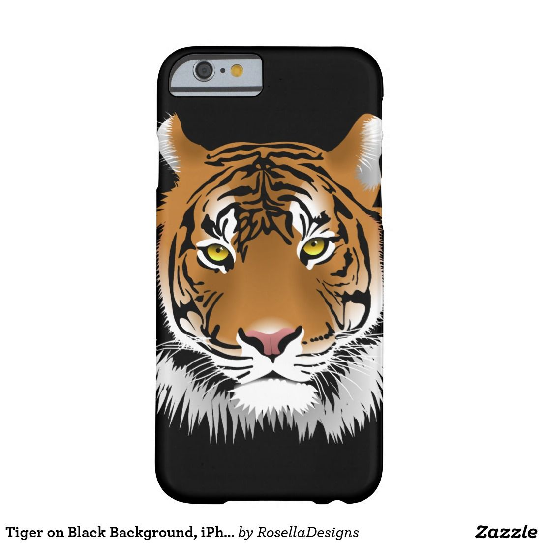 Tiger on Black Background, iPhone 6/6s Case