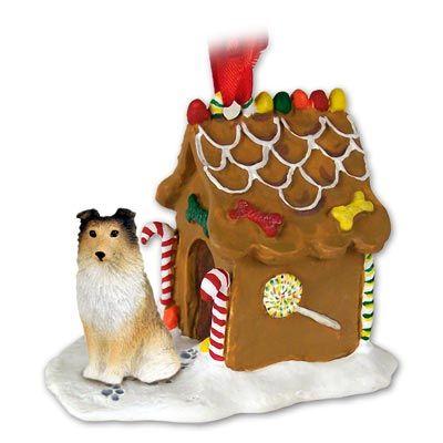 SHELTIE SHETLAND SHEEP Dog sable Gingerbread House ornament 20A  $14.94
