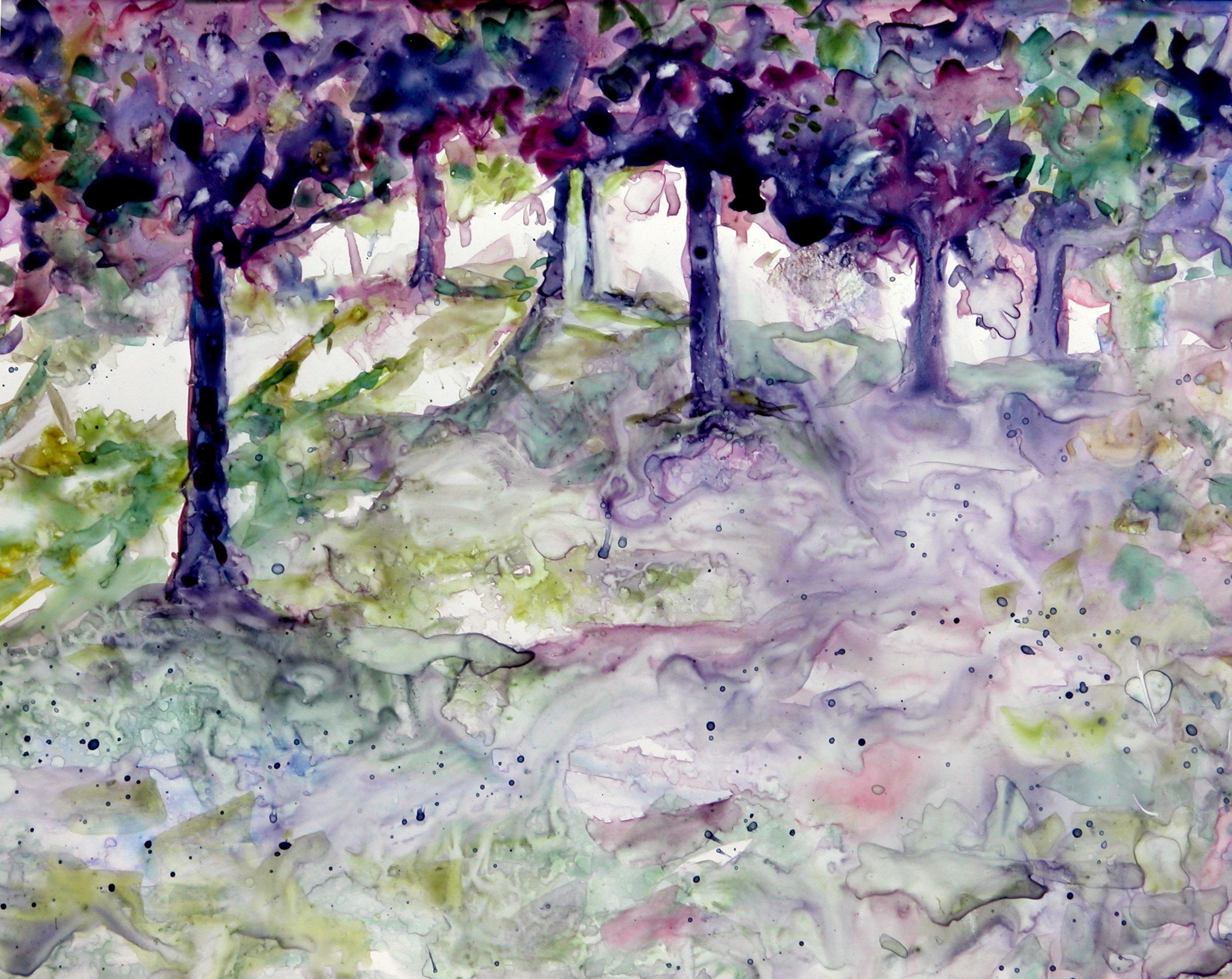 Watercolor artist websites - Forest Fantasy Watercolor Prints Available From Www Jan Bennicoff Artistwebsites Com
