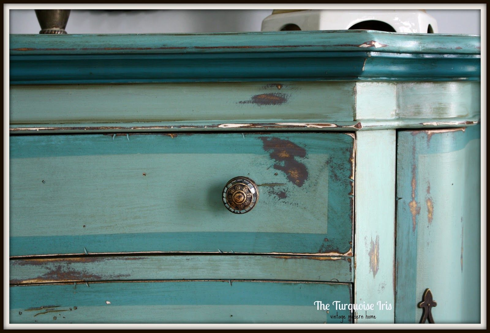 Distressed Entry Table | ReDesign. ReStyle. RePeat.: Teal, Blue U0026 Green