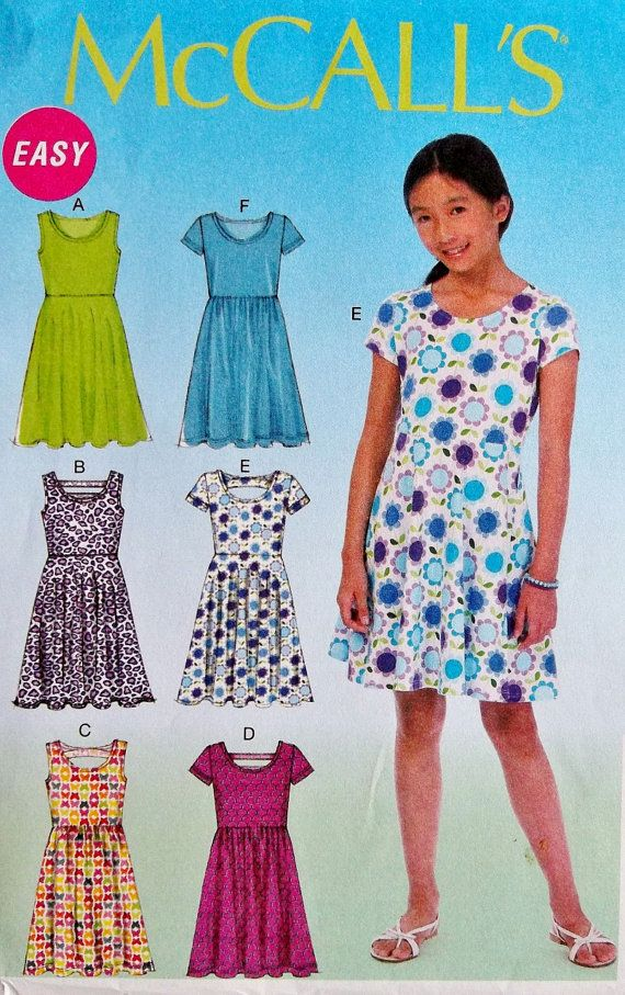 Sewing Pattern Tween Girls Dress Pattern Tween Girls