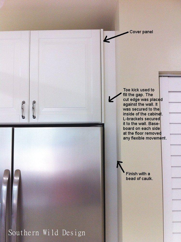 Ikea S Over The Fridge Cabinet Southern Wild Design Kitchen Cabinets Trim Ikea Fridge Ikea Kitchen Cabinets
