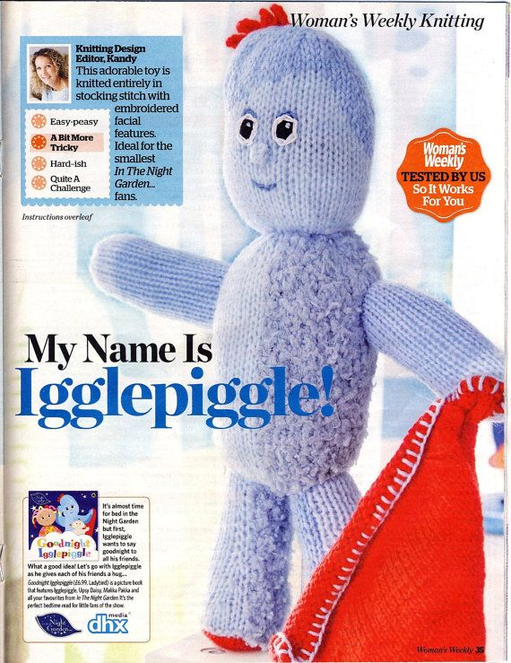 IGGLEPIGGLE Toy Knitting Pattern ~ \'In The Night Garden\' ~ Magazine ...