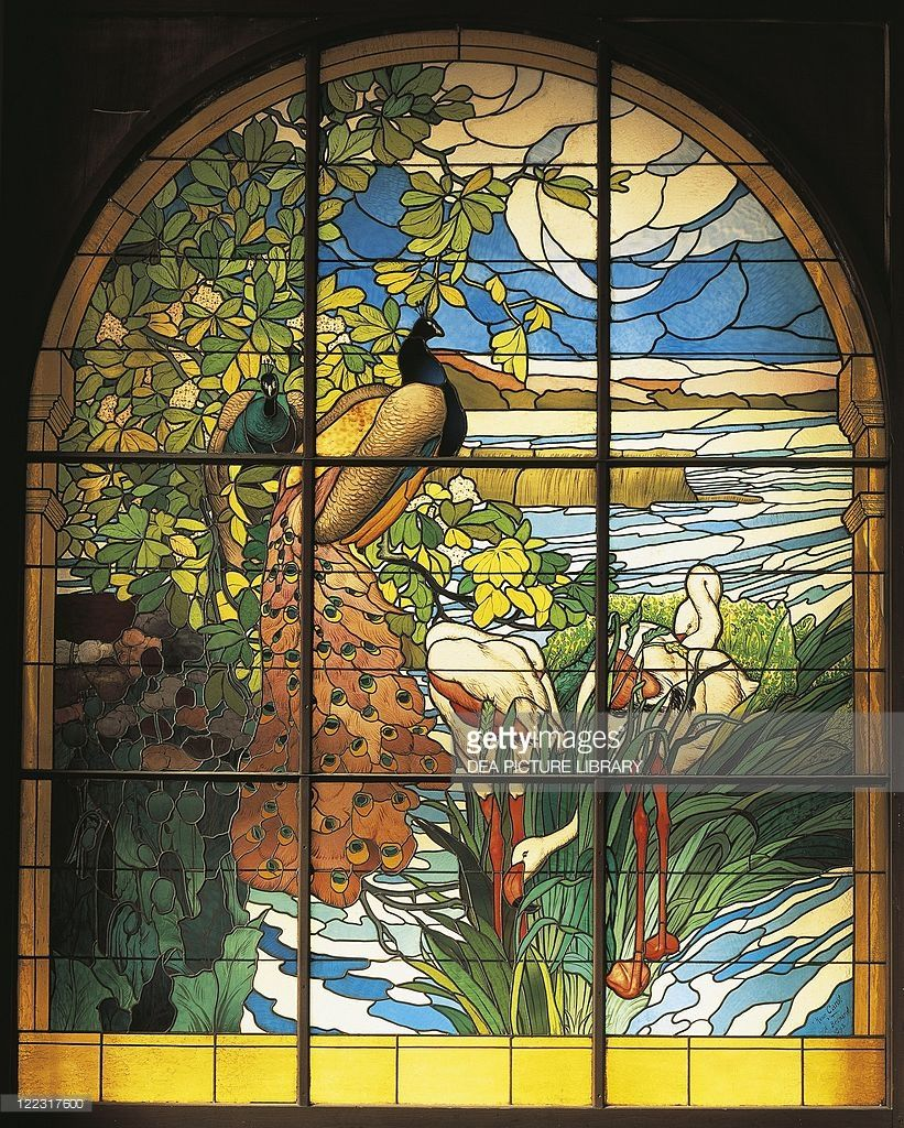 stained glass designed by Paul Albert Besnard