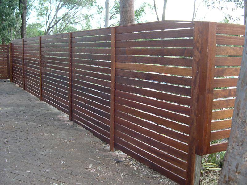 horizontal fence design | Fences & Screens | Backyard ...