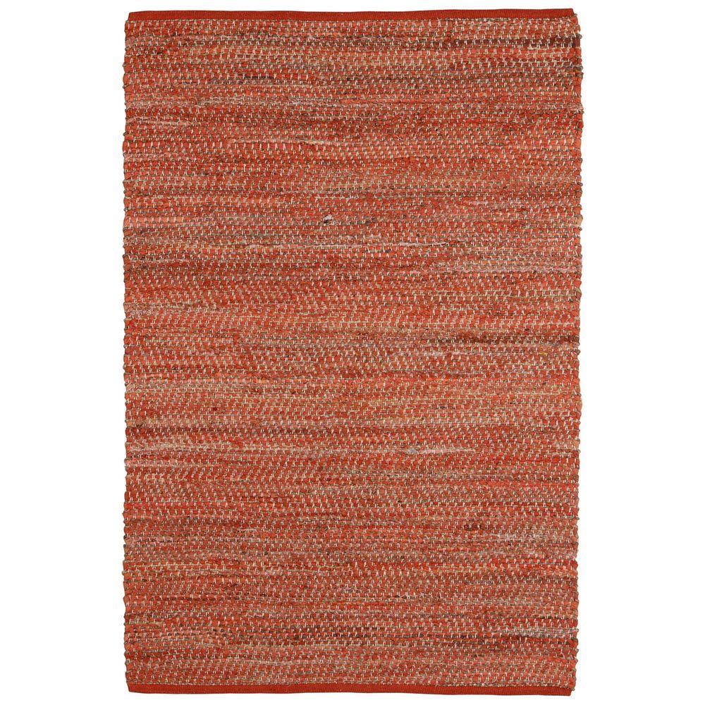 Hand-woven Orange Jeans Denim/ Hemp Rug (8' x 10') | Overstock.com Shopping - The Best Deals on 7x9 - 10x14 Rugs