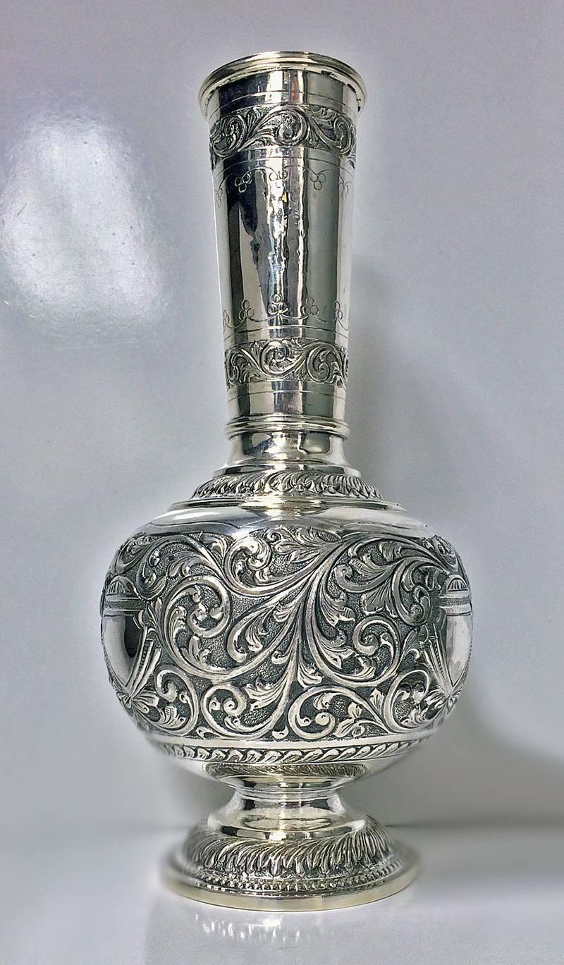 silver ref by antique nouveau large vase anticstore art aucoc a
