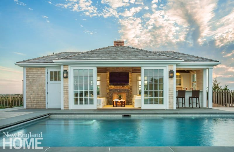 The Spirit Of Nantucket Pool House Designs Pool House Plans