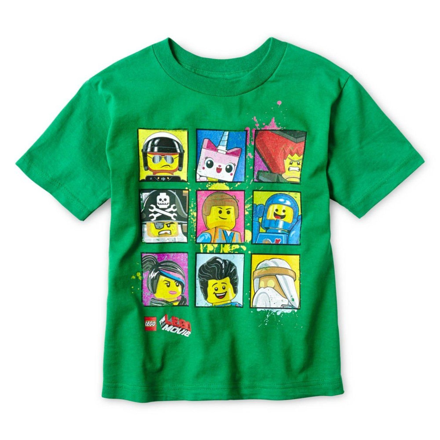 fb4f2634 Amazon.com: Lego Movie Graphic Tee - Boys 4-7 (L 7): Clothing Emmet t-shirt  Unikitty Good Cop Bad Cop