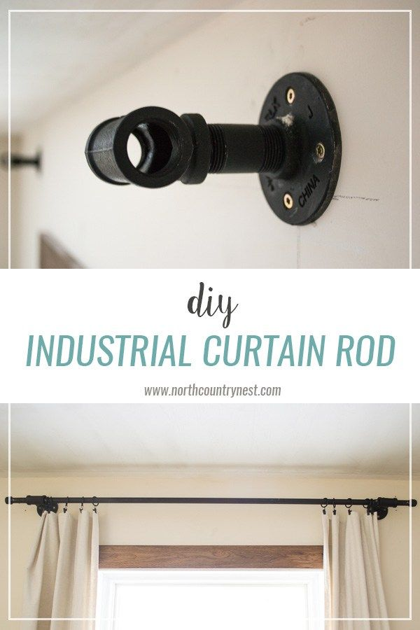 Diy Industrial Curtain Rod Industrial Curtains Industrial