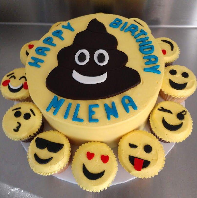 Emoji Birthday Cake And Cupcake Combo Vintagebakery Com 803 386