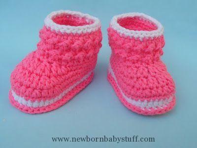 Crochet Baby Booties Crosia Free Patttern Urdu, Hindi Video ...