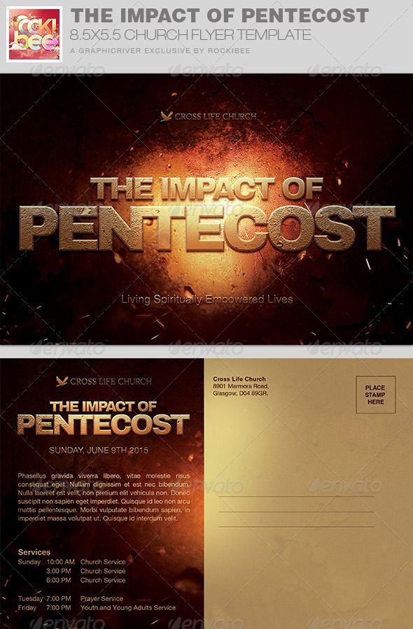 The Impact Of Pentecost Church Flyer Invite  Churches Flyer