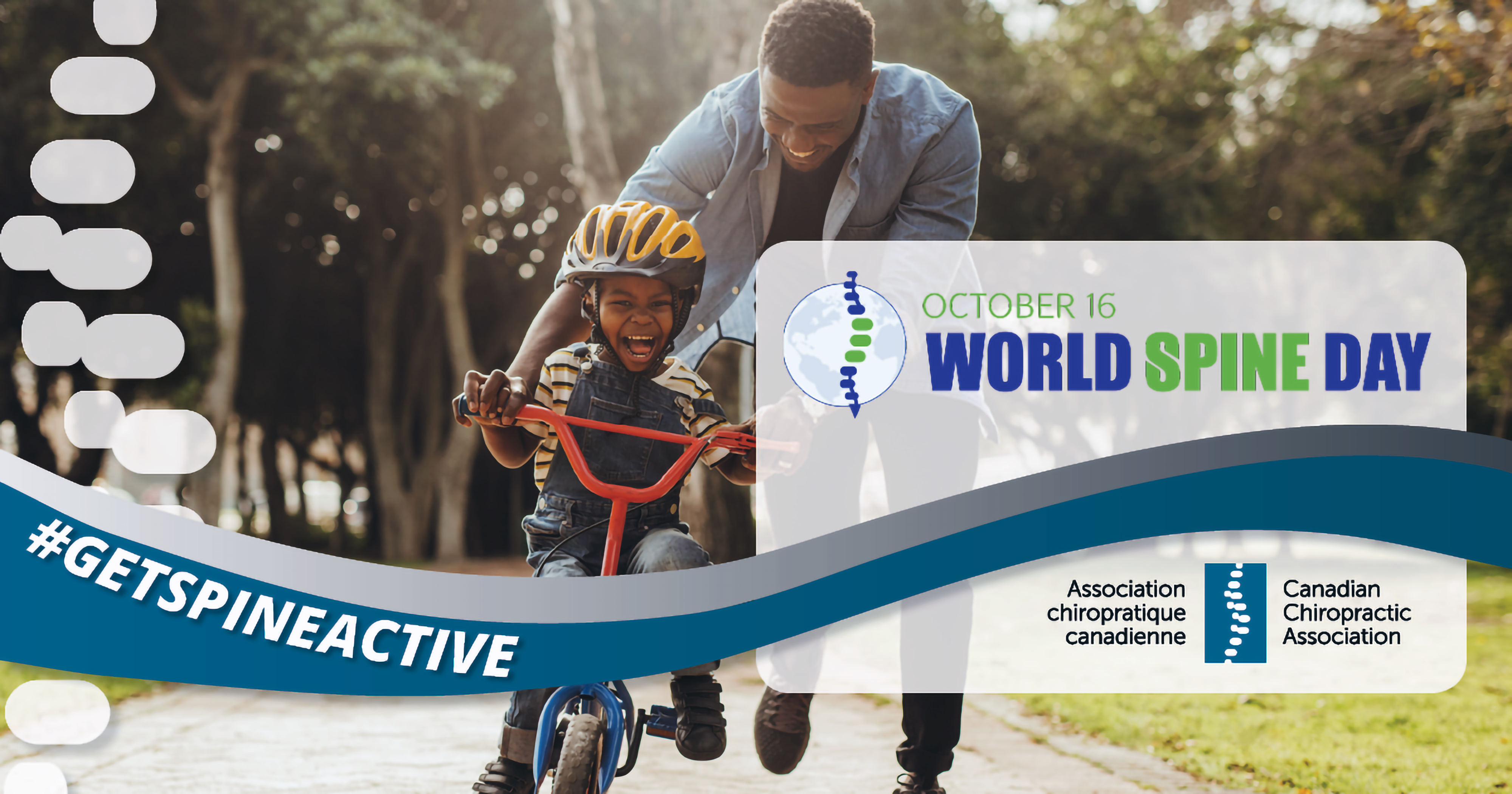 The theme for World Spine Day 2019 is GetSpineActive