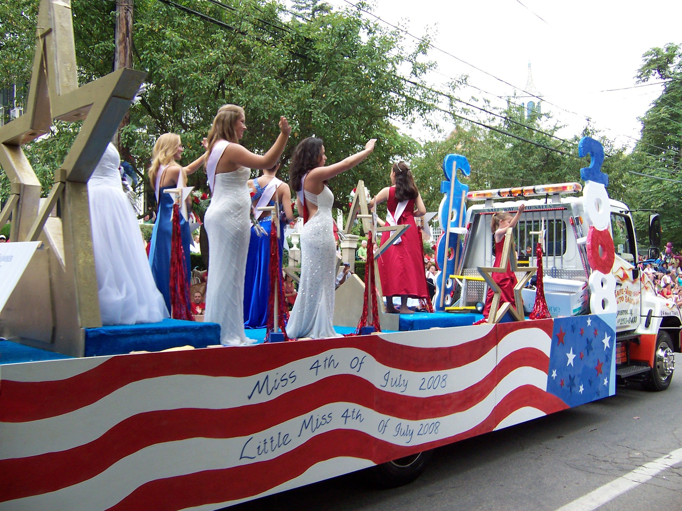 land of the free complete patriotic parade float kit for 4th of