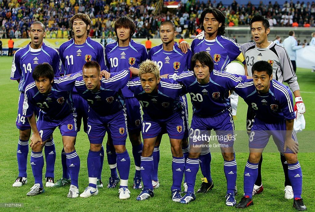 The Japan Team Line Up Before The Fifa World Cup Germany 2006 Group F Fifa World Cup World Cup Fifa