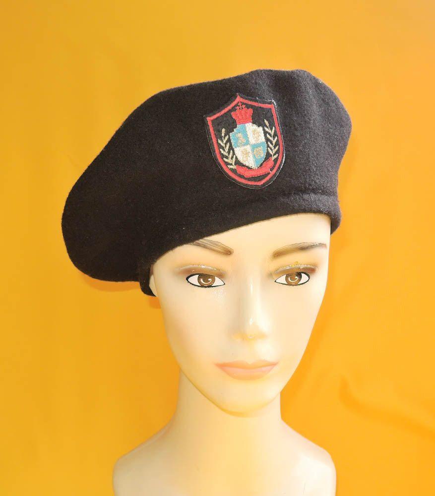 29533ef9b3900c Kangol Beret Hat Vintage Knitted Design Black Designer Wool Hat Winter Cap  by InPersona on Etsy