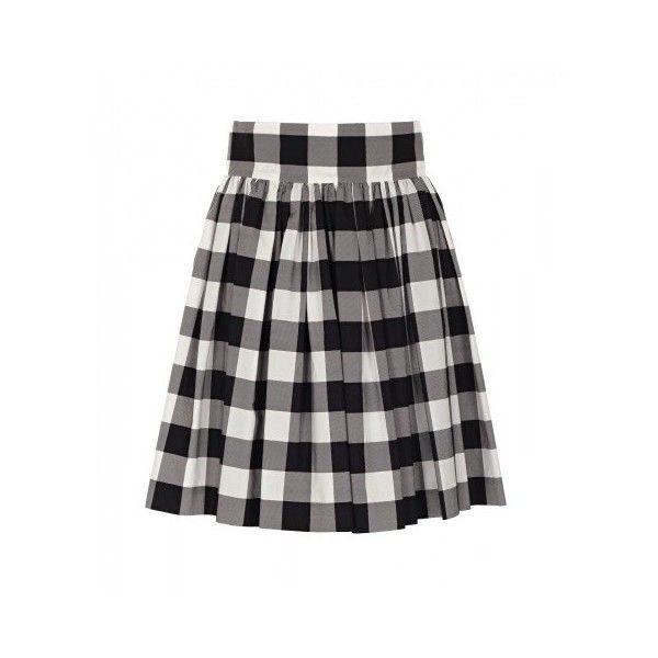 abd9e5d9f32 Dolce   Gabbana Black   White Vichy Print Skirt (41.220 RUB) ❤ liked on  Polyvore