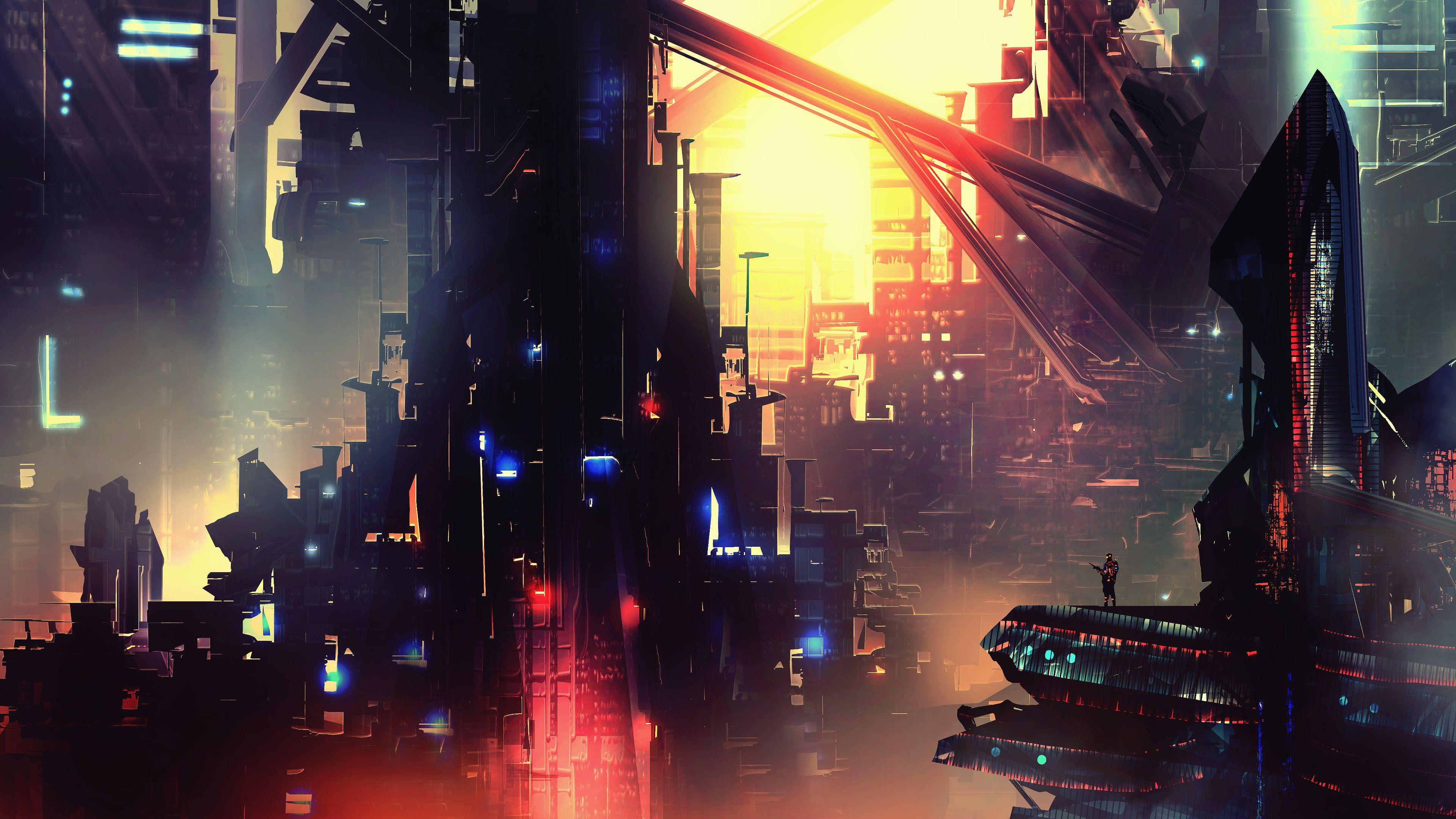 Night Artwork Futuristic City Cyberpunk Cyber Science Fiction Digital Art Concept Art Fantasy Art Cgi Aesthetic Wallpapers Futuristic City Cyberpunk City