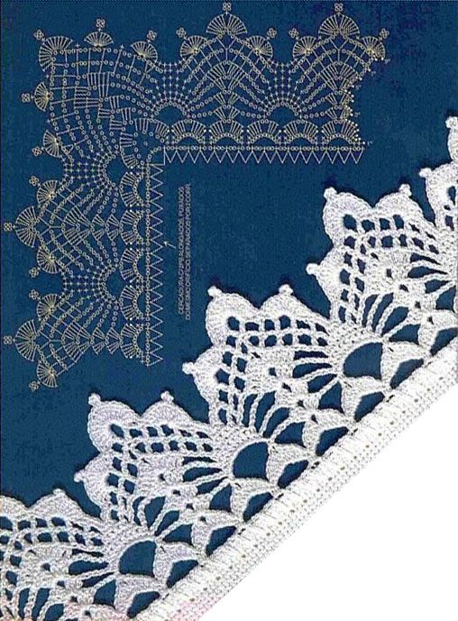 Crochet Lace Edging Trim That Picture Of The Hand Drawn Pattern