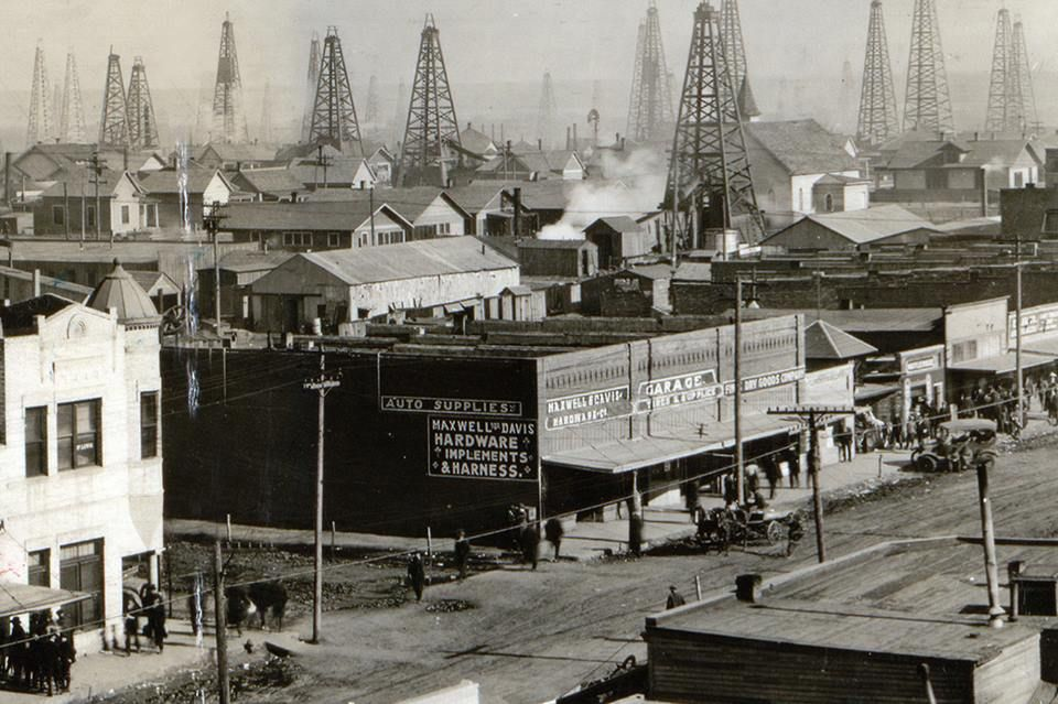 Oil boom town Texas back in the 1920s
