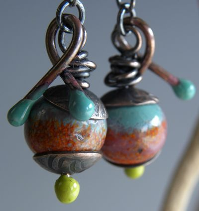 photo gallery • Painting with Fire Studio • torch-fired enamel supplies, jewelry and beads •