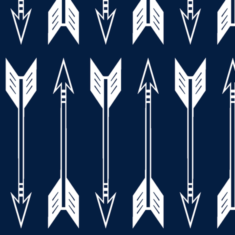 Colorful Fabrics Digitally Printed By Spoonflower Arrows Navy Large Scale Northern Lights Collection Arrow Fabric Woodland Fabric Fabric