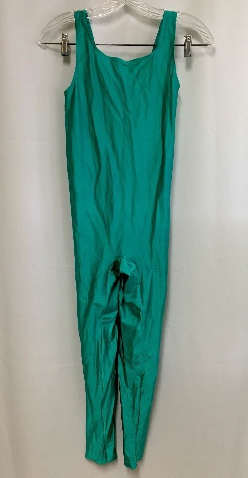 Vintage Reebok Unitard L Neon Green Bodysuit Nylon Spandex Workout Aerobic  Dance  Reebok 7febe3658