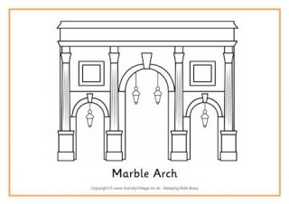 Marble Arch Colouring Page Marble Arch Diy Garden Decor Colouring Pages