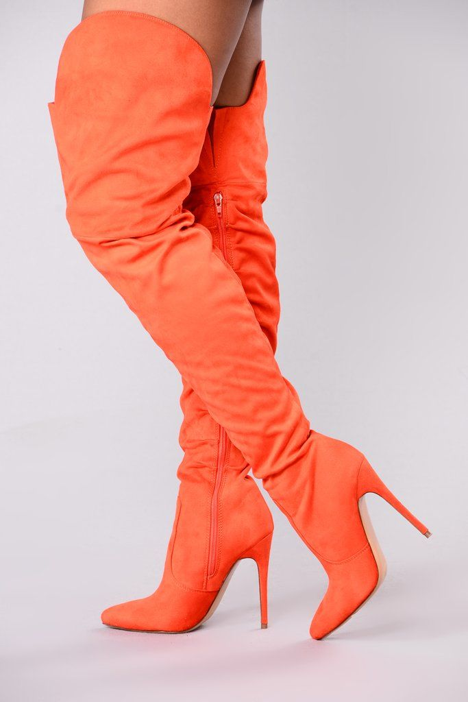 19e51ba2523 Soft As Suede Thigh High Boot - Orange in 2019