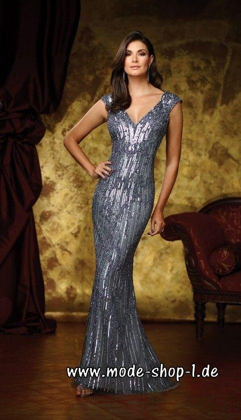 67331bcea3e7 Celebrity Abendkleid 2018 mit Pailletten in Silber   Abendkleider 2018 -  günstig Abendkleider 2018 online Kaufen!   Pinterest