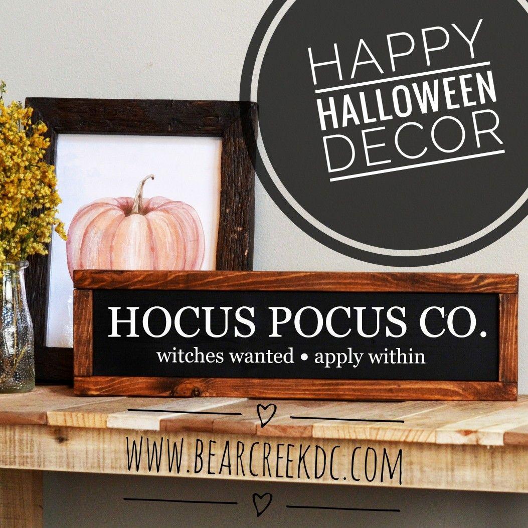 Wooden Decorative Signs Inspiration Hocus Pocus Sign  Halloween Wood Sign  Halloween Decor Decorating Inspiration