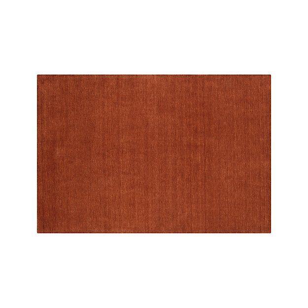 Baxter Marigold Orange Wool Rug 6 X9 Reviews Crate And Barrel Crate Barrel Rugs Rugs Wool Rug