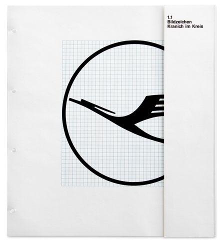 Lufthansa Corporate Manual, Designed by Otl Aicher